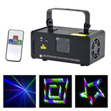 Mini laser lights scanner 400mw 3d effect rgb dj party home projector stage lighting pro wireless remote control 8 ch dmx lamp