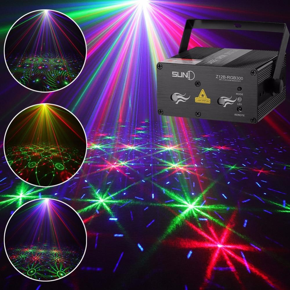 Stage laser light suny sound activated xmas decor mixing rgb effect projector disco dj party lighting home show (z12b-rgb300)