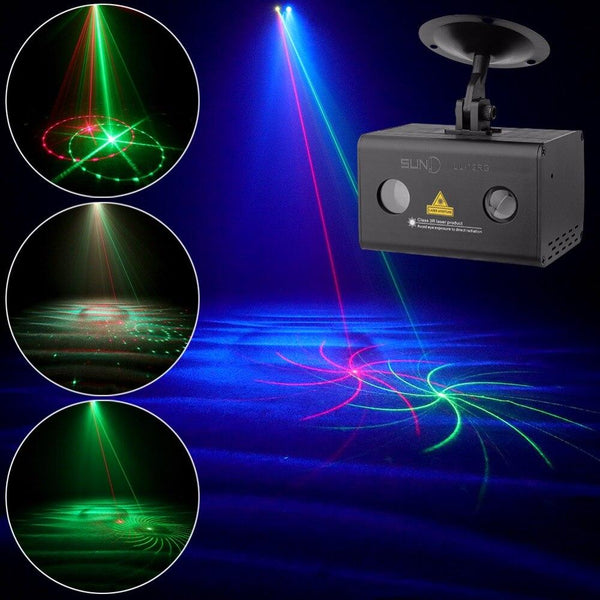 Laser projector aurora effect 12rg patterns w/ rgb galaxy water LED party light club bar disco dj xmas decor light(ll-12rg)