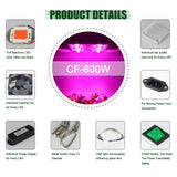 LED light cf grow 300w 600w cob greenhouse hydroponic plant growing lamp full spectrum replace ufo hid
