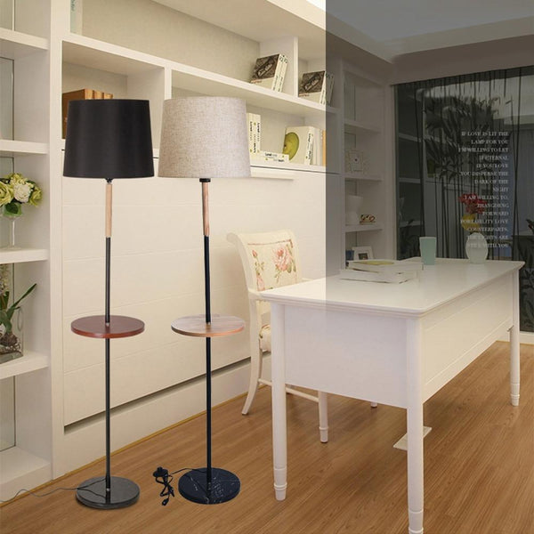 Floor lamp living room study bedroom vertical storage tray table modern salon #3