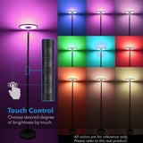 LED floor lamp 24w dimmable lights modern led lamps for living room color changing remote control bedroom