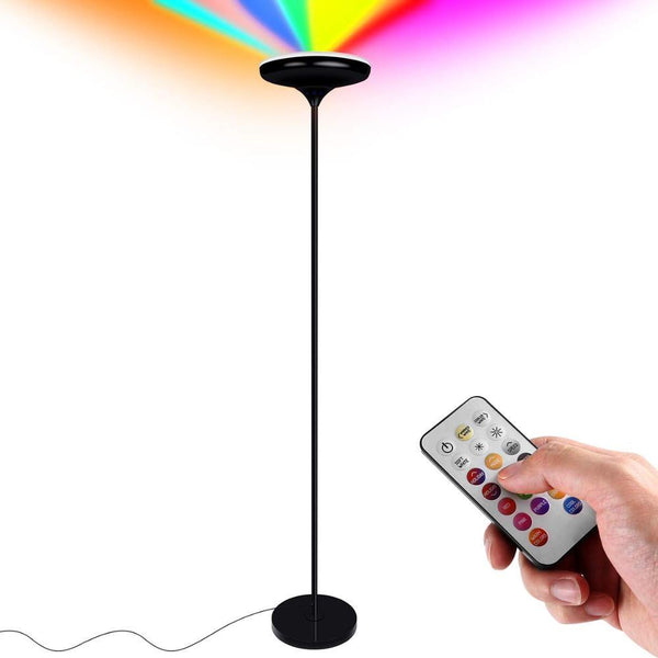 LED floor lamp dimmable color changing remote control adjustable uplight strip 24w for living room