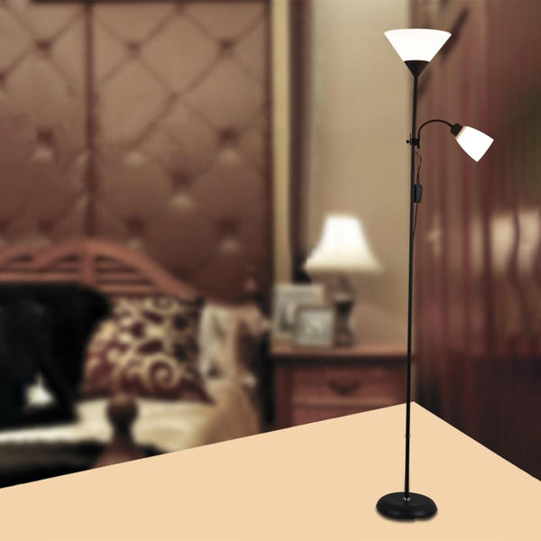 Floor lamps european style modern iron acrylic painted adjustable LED lights for living room study bedside office #3