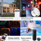 LED stair lights 20pcs/lot smart wifi phone app control 31mm 12v ip67 terrace step deck rail for alexa google home ifttt