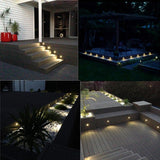 Step lights low voltage string light 10pcs/lot  35mm half moon led outdoor garden yard fence stair deck rail lamps