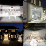 LED solar light 4 pack/lot 136 garden lamp outdoor sides wide lighting area waterproof security