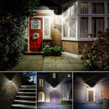 LED solar light 4 pack litom 40 wall lamp garden outdoor wl-cm40 3 modes wide-angle