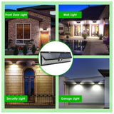 LED solar light 4 pack 54 wall lamp outdoor wide angle wireless security yard waterproof ip65
