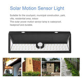 LED solar light 2 pack 54  garden outdoor lamp wireless waterproof motion sensor security