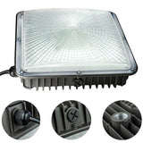 "LED canopy lights 4 pack 45w 120v 5500k 10.5"" x 10.5'' 110v-277v for playground gym warehouse garage backyard"
