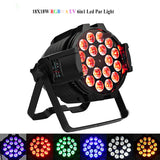 LED par lights 2pcs 18x18w uv 6in1 par can lights aluminum alloy dj
