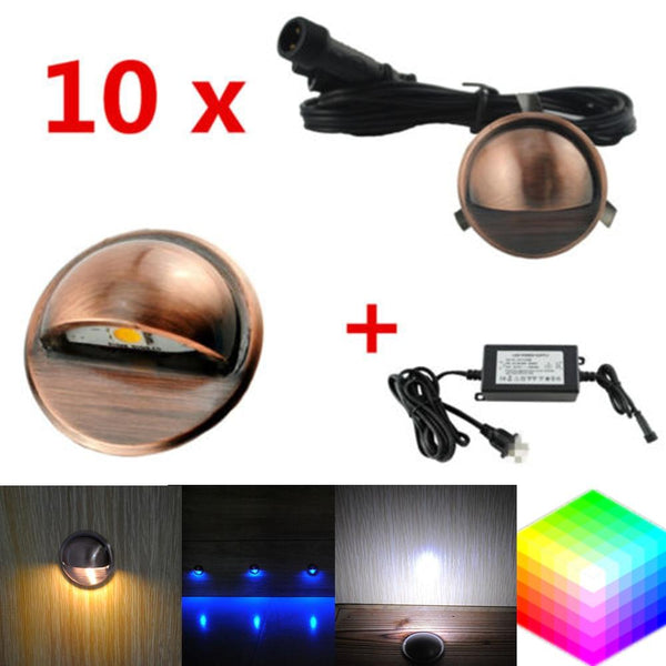 LED deck step light waterproof garden yard villa patio stair corridor plinth fence lamp low voltage 12v 10pcs/lot