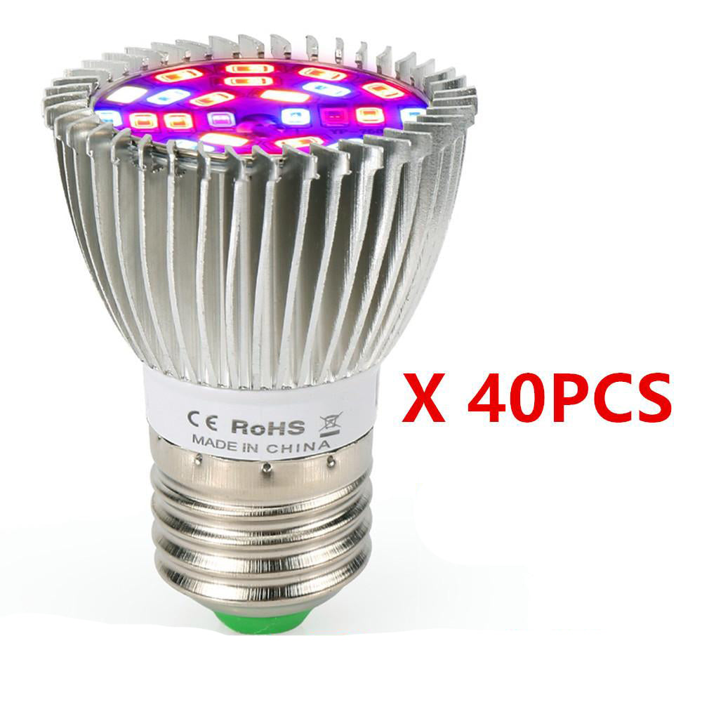 Full spectrum LED grow light (40pcs/lot) 28w growth greenhouse plant lamp