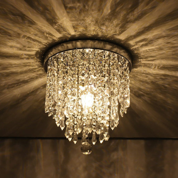 Pendant lights vintage modern chandelier crystal ball fixture pendant ceiling lamp h9.84x w8.66in
