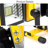 LED floodlight 4 pack 24 30w portable rechargeable security outdoor spotlight waterproof work light with car charger