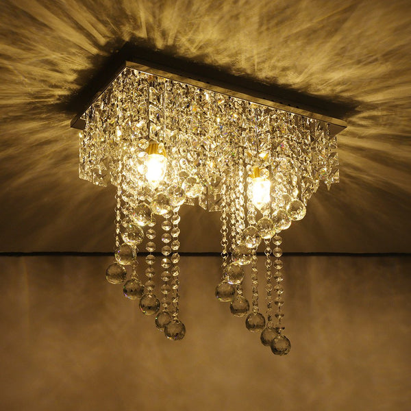 Pendant ceiling lamps crystal chandelier lamp LED modern light home decor 2 e12 5#3