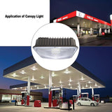 LED canopy light 3pcs/lot ul/dlc listed commerical grade weatherproof outdoor high bay balcony carport driveway ceiling