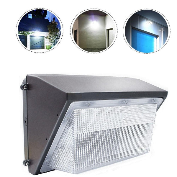 LED wall pack light 70w 100w 125w ac110-277v ip65 waterproof 8500lm 5500k bright white surface mounted lamp outdoor