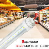 LED tube light 4 pack 6 feet 30w r17d fluorescent replacement for f72t12/cw/ho 5500k bright white