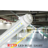 LED tube 8ft 4-pack of 40w r17d 120v-277v input t12 8' f96t12/cw/ho fluorescent tube replacement 5500k 4000lm super bright