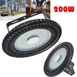 LED hall lamp 2pcs geruite ufo industry lights 200w 16000lm 220v 110v 6000k-6500k mining industrial lighting