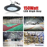 LED high bay light 150w dimmable 5500k 18000 lumens 110v-277v 600w hps equivalent shop light