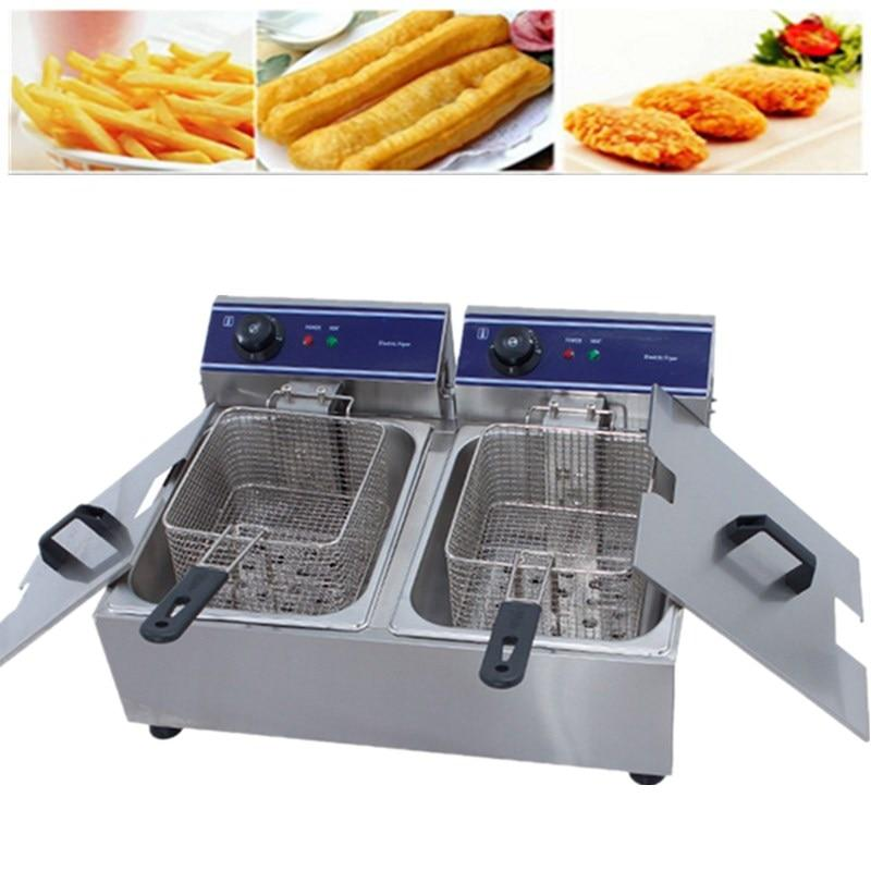 Electric deep fryer price small business for fried chicken commercial machine