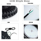 LED high bay light 100w 0-10v dimmable 110v-277v ip65 12500lm 350w-400w hps equivalent high shop for warehouse