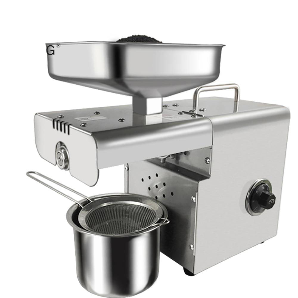 Oil press household stainless steel machine 350w peanut/sesame presser 220v/110v available