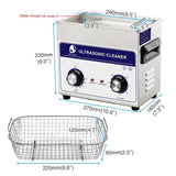 Ultrasonic cleaner 3l industry cleaner 3.2l 120w 110/220v cleaning solution for circuit borad metal parts tableware