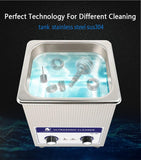 Ultrasonic cleaner bath stainless steel 2l 60w 40khz 110/220v for medical dental clinics inkjet cartridges seals