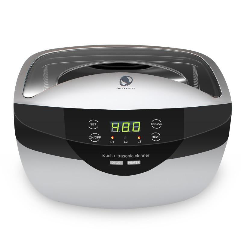 Ultrasonic cleaner 2500ml degas digital time setting for jewelry stones cutters gold silver watches glasses