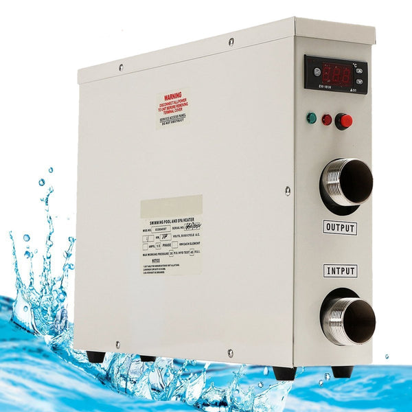 Electric water heater 11kw 220v ac for swimming pool spa tub bath heating with digital thermostat