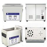 Ultrasonic cleaner digital 4.5l 180w bath heated stainless basket injector engine metal pcb ultrasound cleaning machine