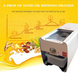 Mini oil press vegetable machine high yield automatic peanut sesame sunflower seed extraction