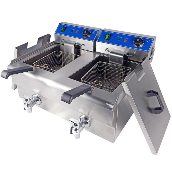 Electric deep fryer stainless steel multifunctional fat frying machine grill fried fish chicken meat potato chips