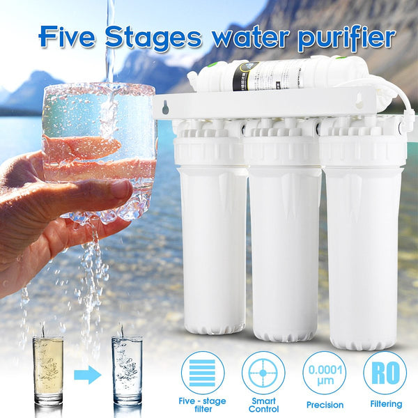 Water purifier 5 stage ultra filtration system uf home drinking faucet household filter kitchen