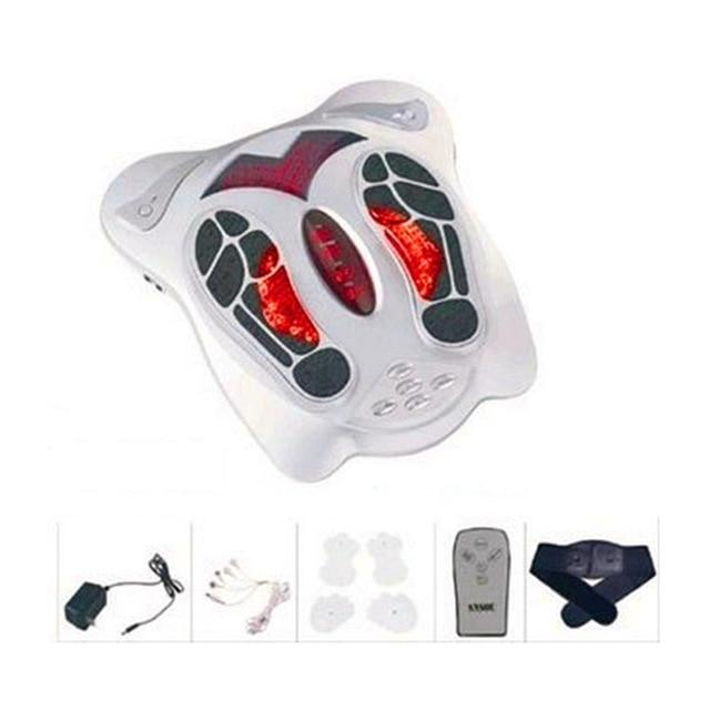 Electric foot massager infrared heat low frequency stimulation blood circulation reflexology slimming belt pad care