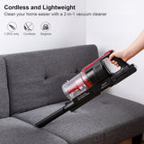 Handheld vacuum cleaner 2-in-1 cordless high suction cyclone sweeper dust collector aspirator