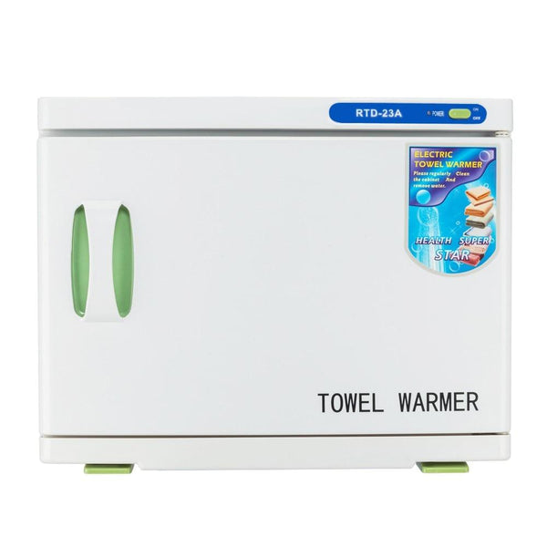 Towel sterilizer uv & heating 16L / 23L tool warmer cabinet spa facial disinfection salon beauty
