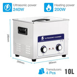 Ultrasonic cleaner 2-30l heated stainless basket industrial metal parts medical lab instruments ultrasound cleaning bath