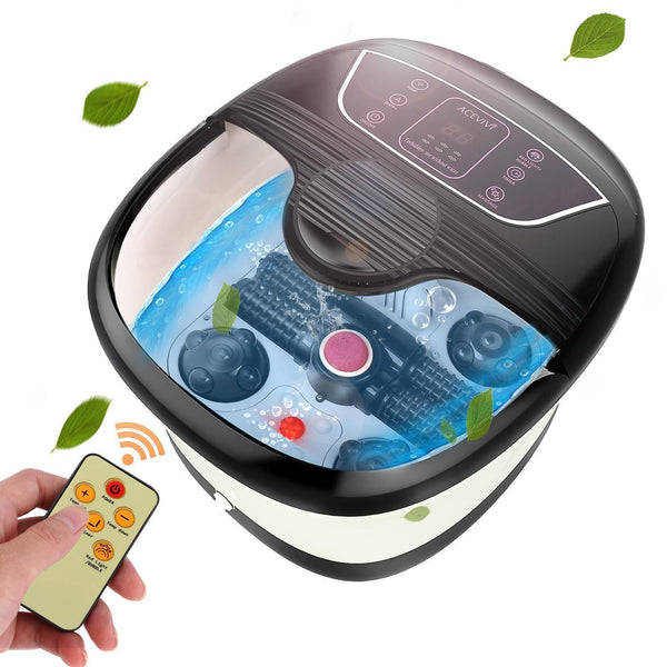 Foot tub feet massager bath barrel automatic massage clean basin electric heating leg wash pedicure machine home thermostat