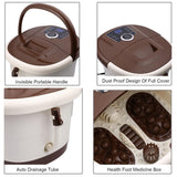 Foot massager spa heated bath automatic massage rollers vibration bubbles digital adjustable temperature control