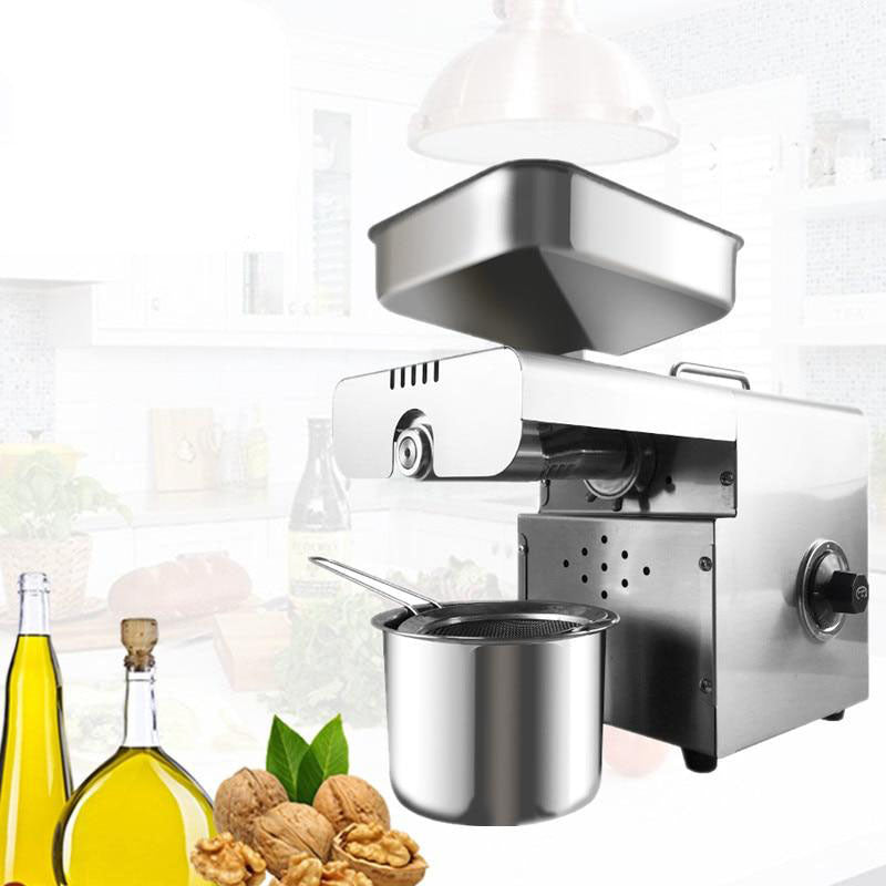 Oil press automatic intelligent machine with thermostat control sunflower seed soybean peanut sesame making