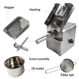 Cold press oil machine hand operated 110v/220v stainless steel sunflower coconut extractor
