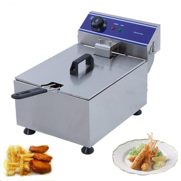 Electric deep fryer stainless steel single tank smokeless french fries chicken steak corn grill multi-function mini hotpot oven