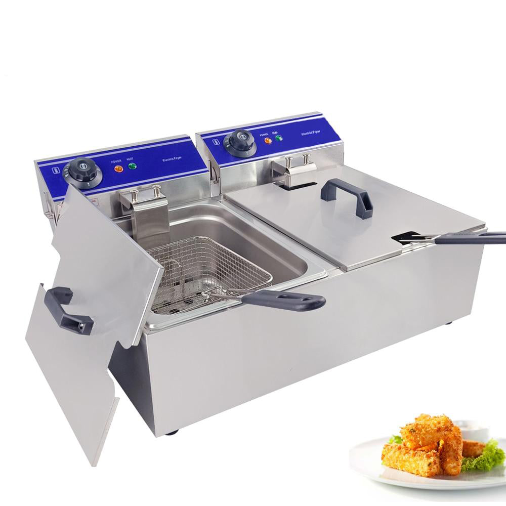 Deep fryer commercial use electric household for dog chicken wings machine stainless steel with temperature control