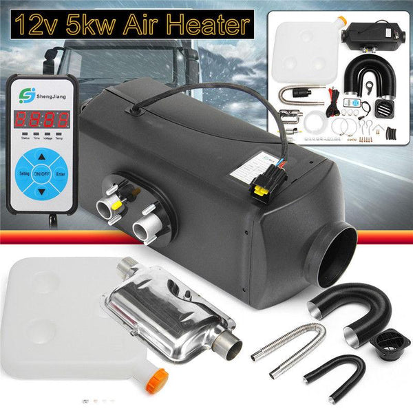 Air heater 5kw dc 12v parking diesel single-hole switch with muffler universal for tank vent duct thermostat caravan