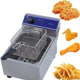 Mini fryer stainless steel french fries small square shape kitchen supply fried chicken deep basket mesh strainer